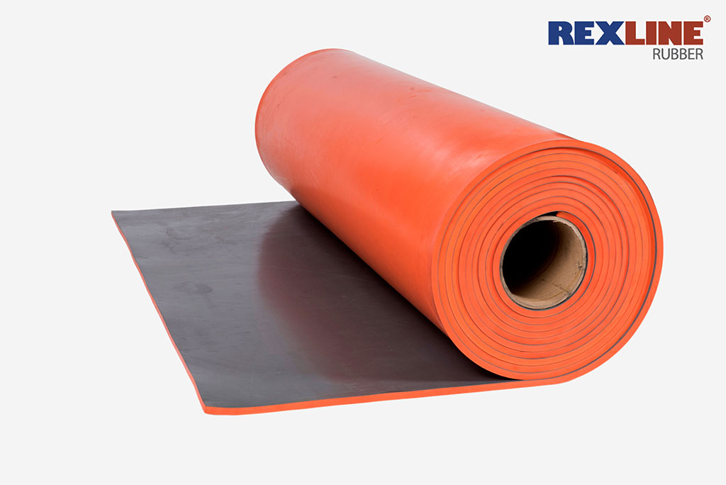 Rubber Sheeting Roll rexline orange